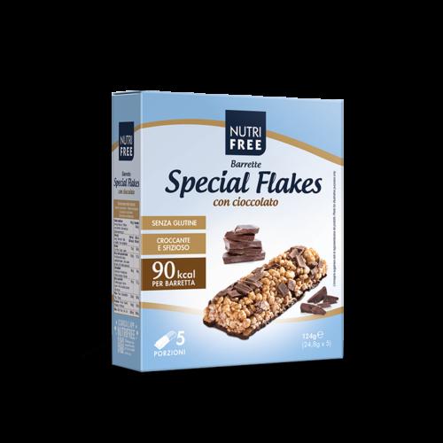 Nutrifree Barrette Special Flakes con Cioccolato 124g